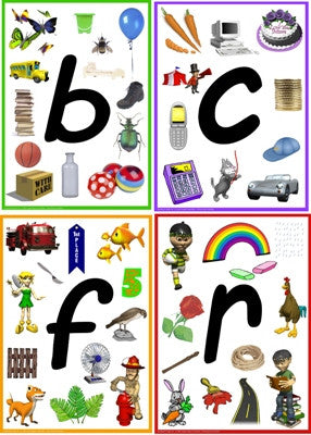A4 Alphabet Time Laminated