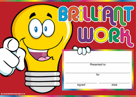 Brilliant Work Award