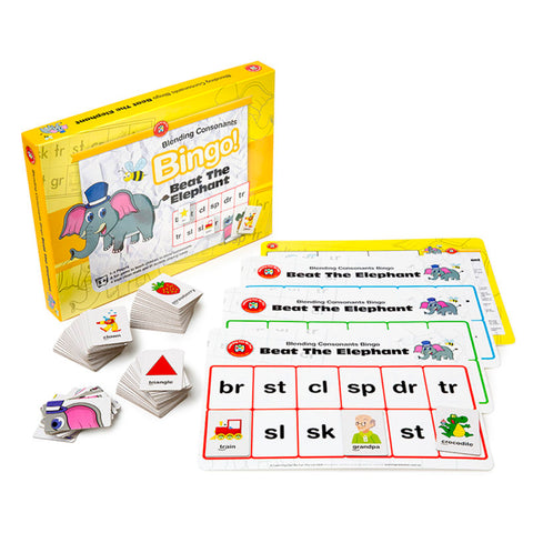 Blending Consonants Bingo - Beat the Elephant