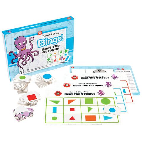Colours & Shapes Bingo - Beat the Octopus