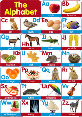A3 Alphabet Chart with words