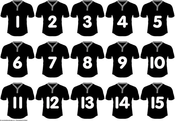 Rugby Numbers 1-15