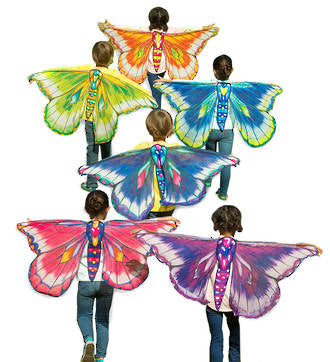 Butterfly Wings - Orange/Green