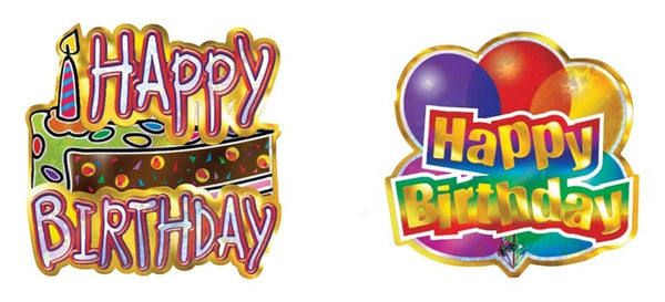 Birthday Foil Stickers