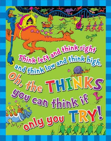 Dr Seuss Think Poster