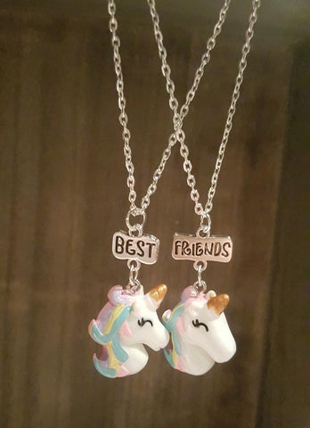 3D Unicorn BFF Necklaces (x2)
