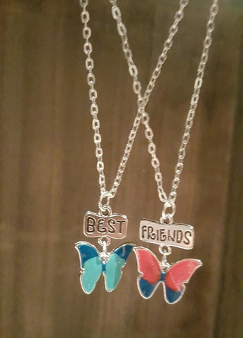 Butterfly BFF Necklaces (x2)