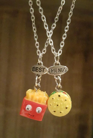 Burger & Fries BFF Necklaces (x2)