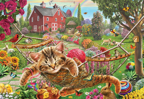 Cat on the Farm Gallery Puzzle 300XL