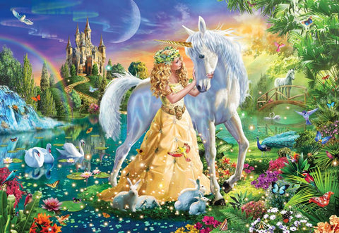 Princess and Unicorn Gallery Puzzle 300XL