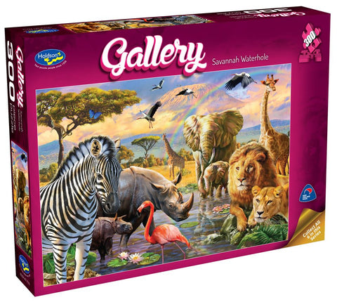 Savannah Waterhole Gallery Puzzle 300XL