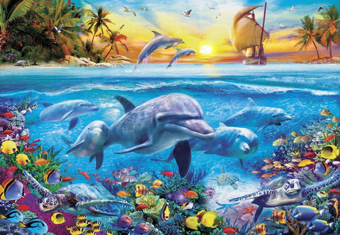 Dolphin Ship Gallery Puzzle 300XL