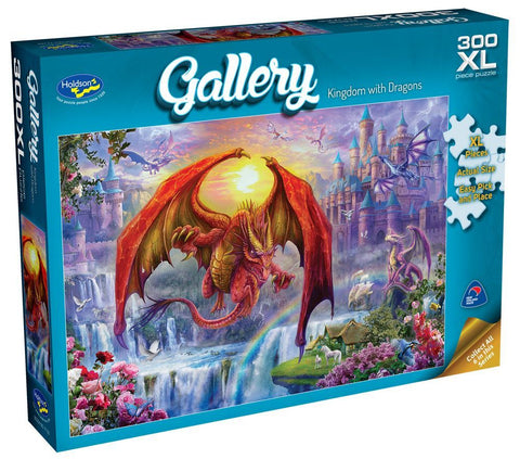 Kingdom with Dragons Gallery Puzzle 300XL