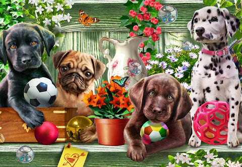 Shelf Puppies Gallery Puzzle 300XL