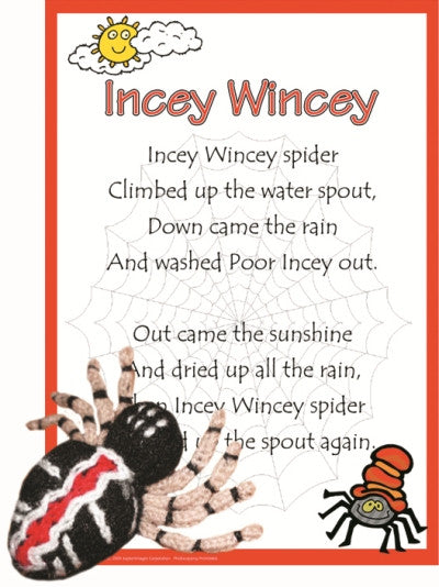 Incey Wincey Spider Poem & Puppet Set