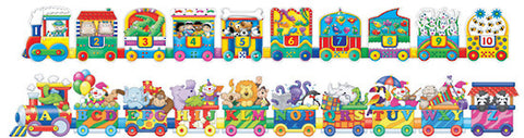 Giant ABC & 123 Train Puzzles