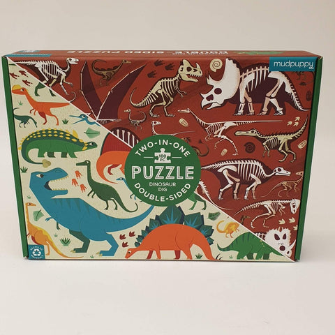 Double-Sided Dinosaur Dig Puzzle