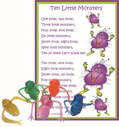 Little Monsters Poem & Puppet Set