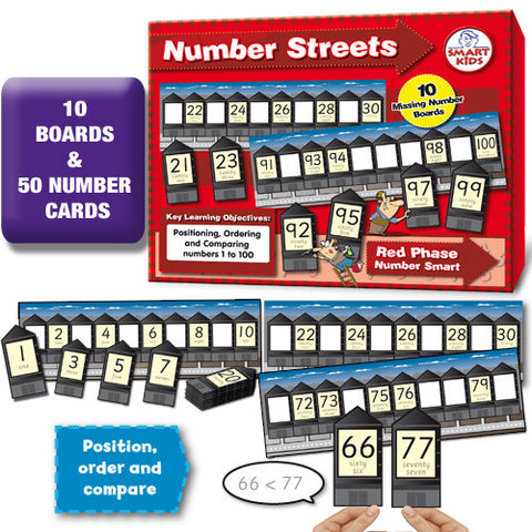 Number Streets 1-100