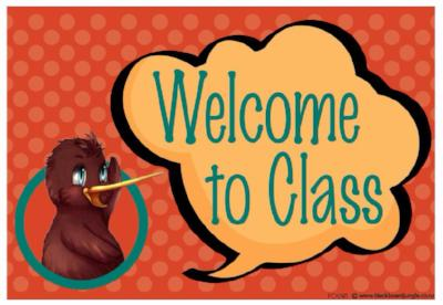 Kiwi Welcome Teacher Cards
