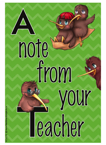 Kiwi 'A Note From Your Teacher' Cards