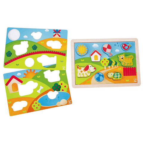 Hape Sunny Valley 3 in 1 Puzzle