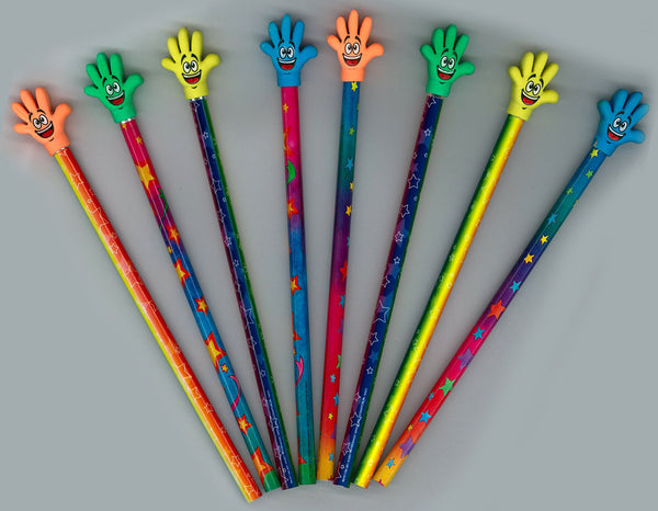 12 Pencils with High Five Erasers