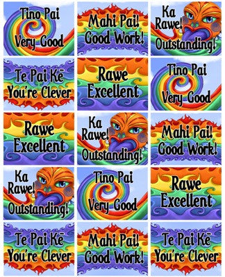 Rainbow Stickers Bilingual