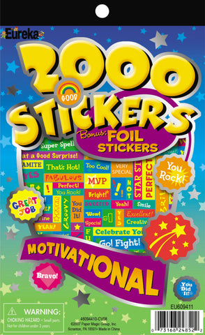 2000 Motivational Stickers