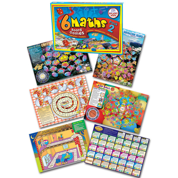 6 Maths Board Games - Pack 2