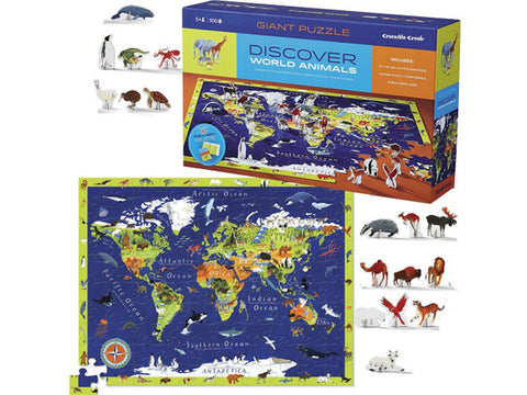 Crocodile Creek World Animal Puzzle 100pc