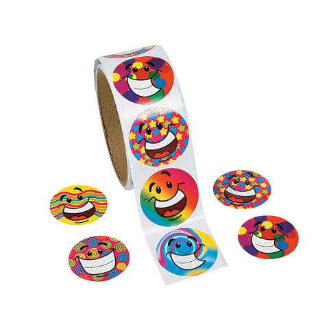 Funky Smiles Sticker Roll