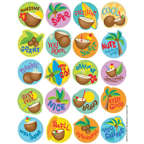 Coconut Scratch 'n Sniff Stickers