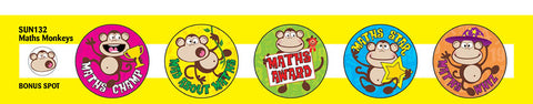 Maths Monkey Stickers