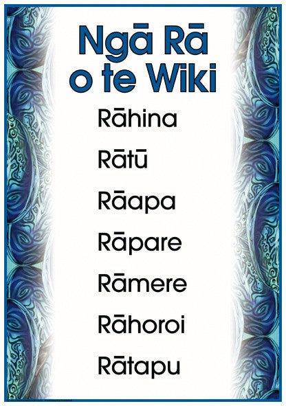 Māori Days of the Week