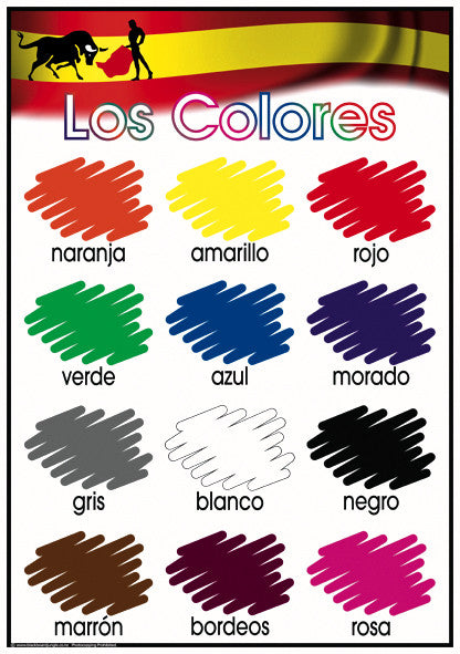 Spanish colours blackboard jungle for Colors in spanish