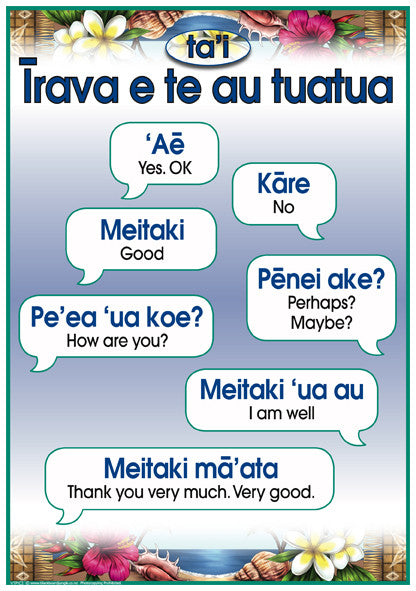 Cook Islands Maori Phrases 1