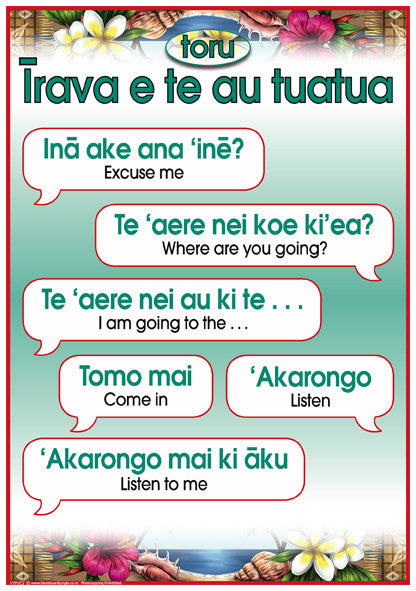 Cook Islands Maori Phrases 3