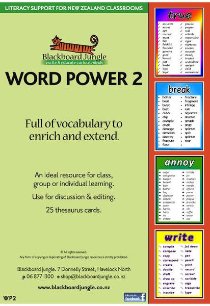 Word Power 2 Laminated