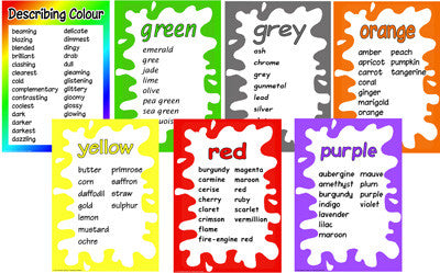 A4 Colour Words Laminated