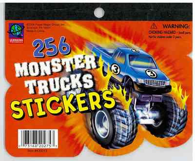 256 Monster Truck Mini Stickerbook