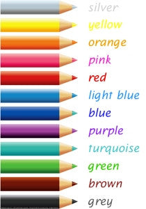 Pencil Colours Chart