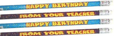 12 Birthday Pencils