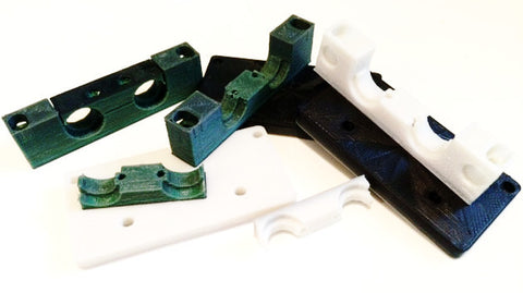 Dual E3D v6 mount for Solidoodle Workbench - PrintIt Industries - 1