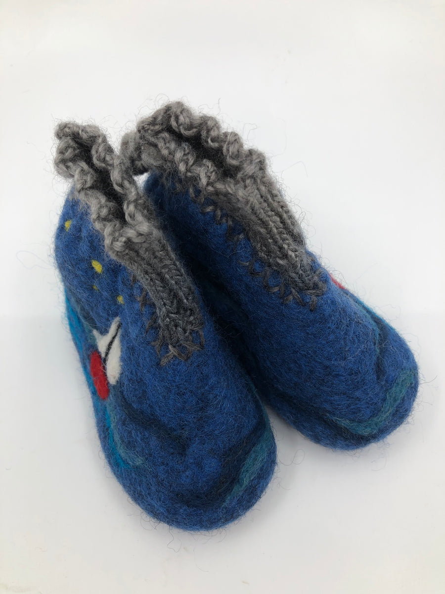 Felted Wool Slippers [boats]