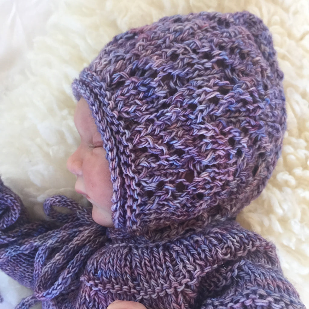 Falling Leaf Bonnet - Knitting Pattern