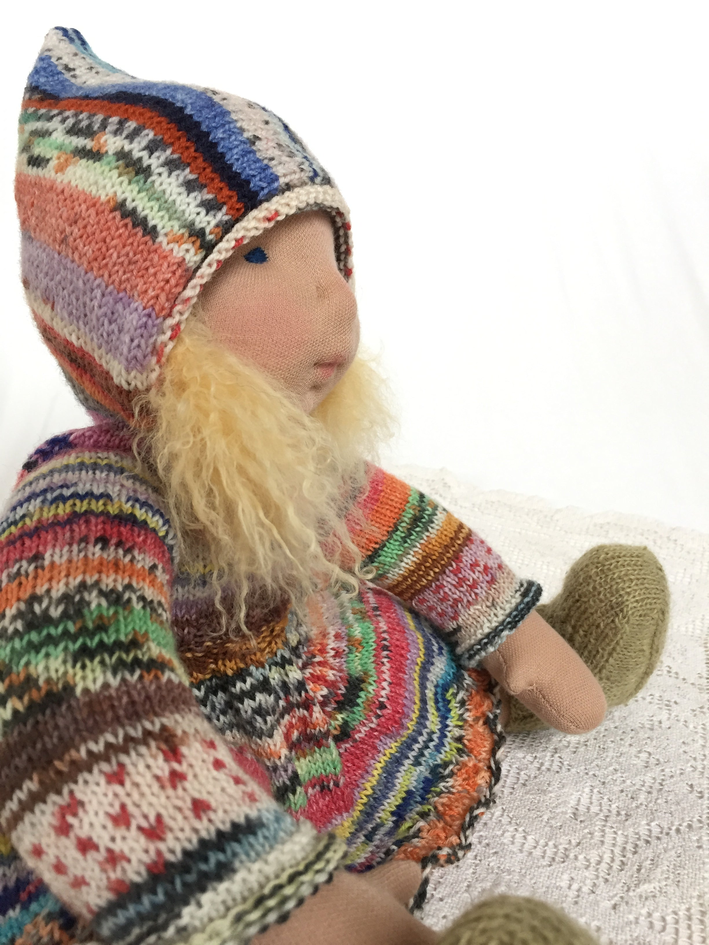 "Scrappy Ridinghood Sweater Dress for 16""-18"" dolls"