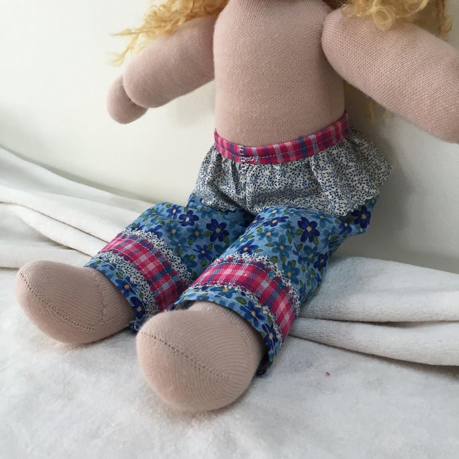 Pant Pattern - how to create a pattern for your Waldorf inspired doll