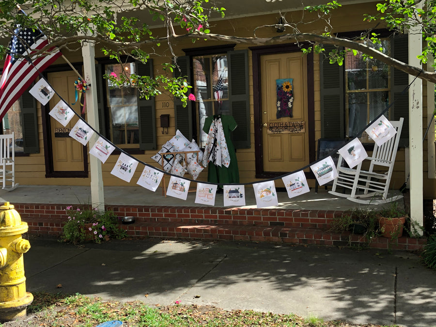 Edenton inspired Bunting - Historic Buildings