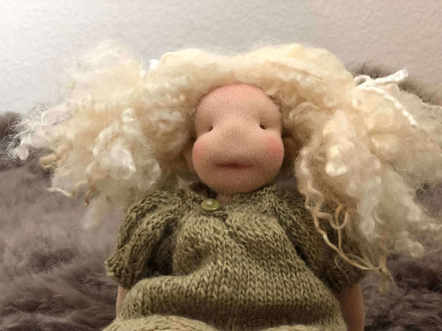 wool, Waldorf inspired doll, Waldorf inspired, Waldorf doll, Steiner doll, natural materials, fiber art doll, doll, cotton, Cloth doll, art doll, boy, girl, toy, play, role play
